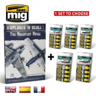 COMBO AIRPLANES IN SCALE BOOK + AIRCRAFT PAINTS SET